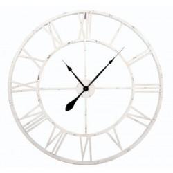 Zegar scienny kuty RETRO metalowy LOFT 60cm BIAŁY